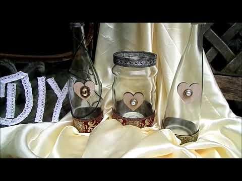 diy edle deko gl ser flaschen basteln mittelalter k niglich look youtube. Black Bedroom Furniture Sets. Home Design Ideas