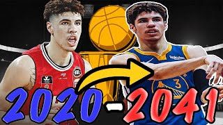 LAMELO BALL ENTIRE CAREER SIMULATION! BETTER THAN CURRY?!? NBA 2K20