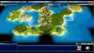 Sid Meier's Civilization IV Beyond The Sword Gameplay Video 1/Match 1.