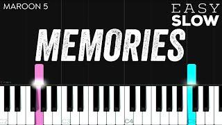 Maroon 5 - Memories   EASY SLOW Piano Tutorial