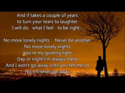 "Paul McCartney - No More Lonely Nights - Scroll Lyrics ""22"""