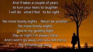 "Paul McCartney - No More Lonely Nights - Scroll Lyrics ""22"""