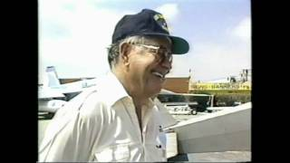Famous Aviator Douglas (wrong way) Corrigan, Hawthorne California 1988