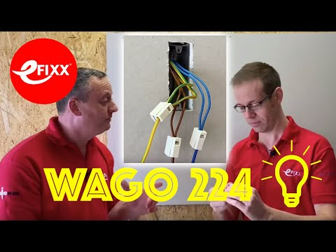 Wago 224 Connector Block Demonstration - Great For Light Fitting Installation