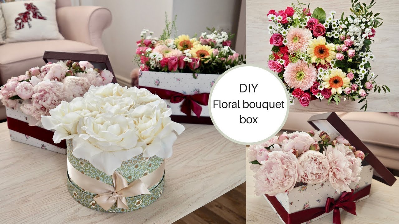 How to make a flower bouquet box diy flower hat box youtube flowerbox teacup daintydiaries izmirmasajfo