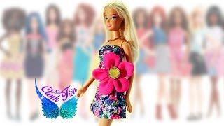 Hướng dẫn may váy cho búp bê Barbie -  Váy đính kèm bông hoa to ngang eo ★ Chị Cánh tiên