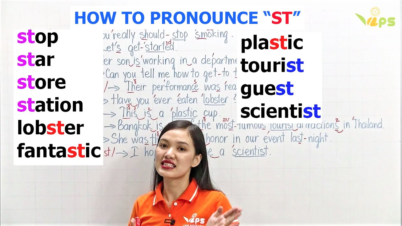 """How to Pronounce """"ST"""""""