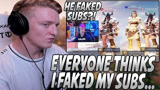 """Tfue Responds To People HATING On Him For """"Faking"""" His Sub Count To BEAT Ninja!"""