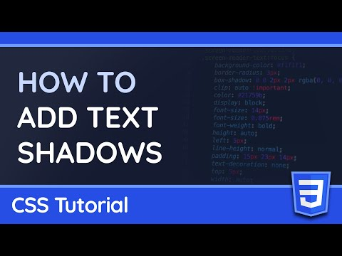 How to Add Shadows to Text with CSS - Web Design Tutorial thumbnail