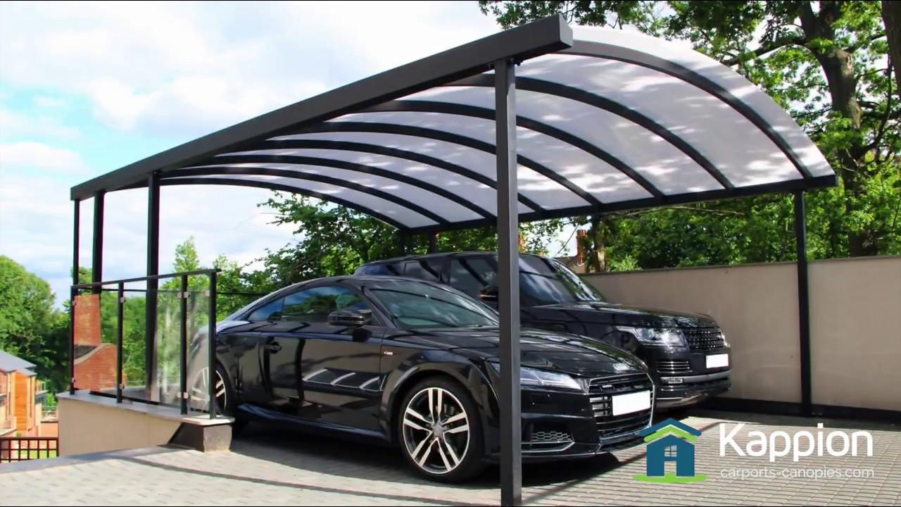 Carport Canopy - 2 Car Bespoke & Freestanding - YouTube