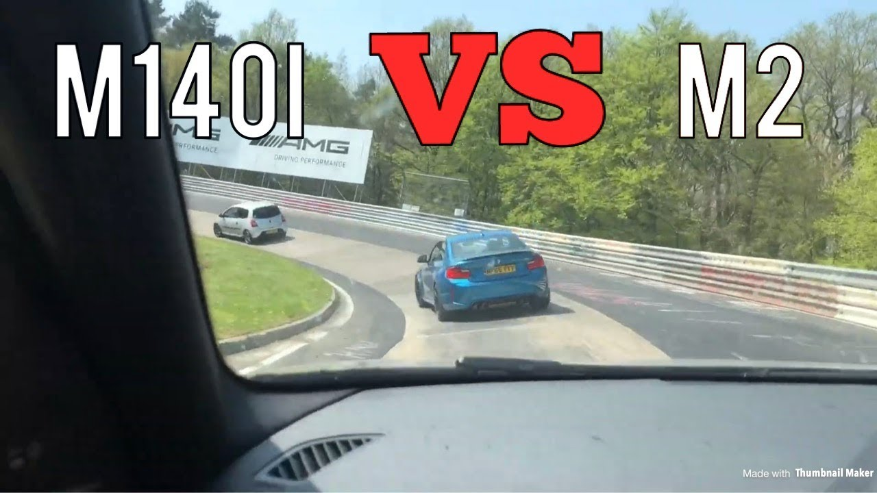 2018 BMW M140i VS BMW M2 On The Nurburgring *NEAR CRASH*