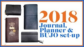 2018 Journal, Planner and Bujo Setup | Midori Traveler's Notebook