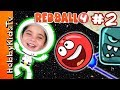 Let's Play Red Ball 4! Space Moon Level Part 2