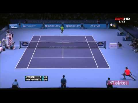 David Ferrer Vs Juan Martin Del Potro HIGHLIGHTS ATP World Tour Finals 2012 HD   YouTube