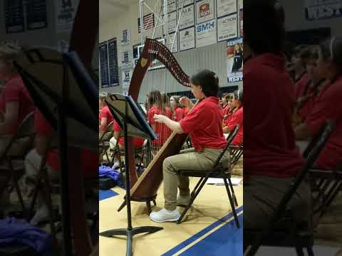 Harp solo for Silent Night - Little Oak Middle School, Slidell, LA 19Dec2018