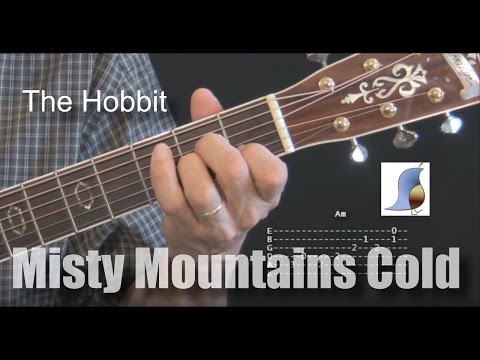 Misty Mountains Cold - The Hobbit - Guitar Lesson