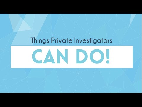 What a Private Investigator Cannot Do