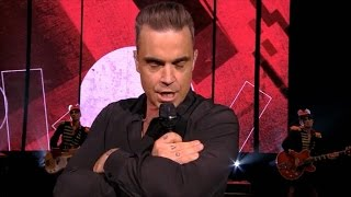 "Robbie Williams knalt Party Like A Russian"" door de zaal!"" 