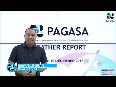 Public Weather Forecast Issued at 4:00 PM December 10, 2017