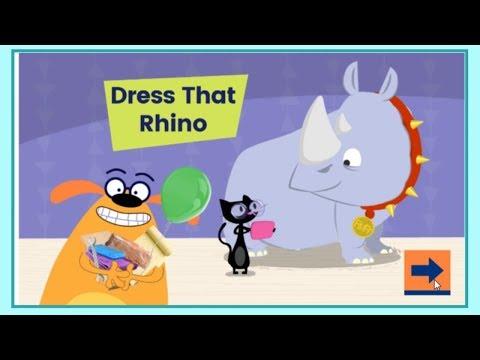 Ruff Ruffman Game Video - Dress That Rhino Episode - PBS Kids Games