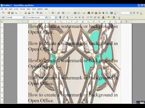 Open Office Insert Watermark or Background. Simple