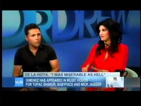 Jennifer Gimenez with Oscar De La Hoya on Dr. Drew