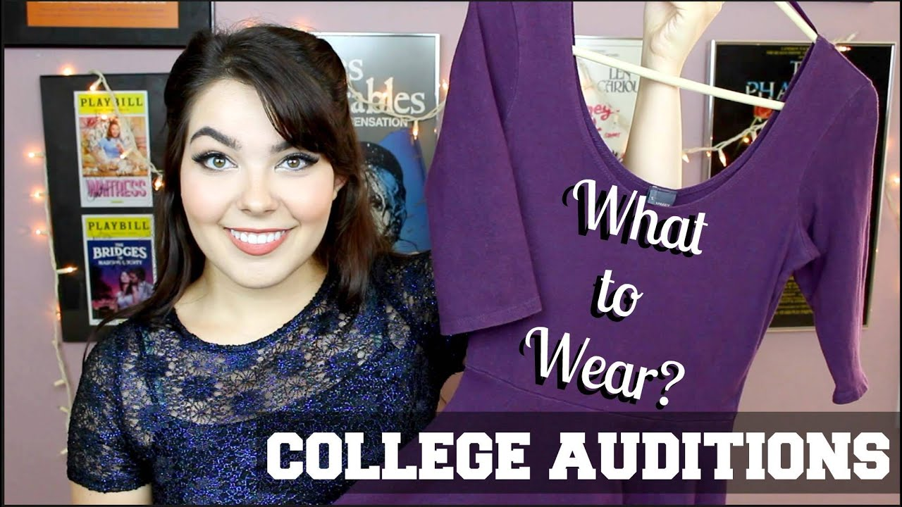 to wear - School drama auditions what to wear video