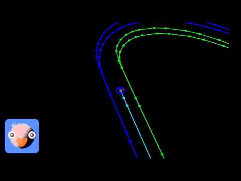 Artificial Intelligence in Racing Simulations: Computing the Racing Line