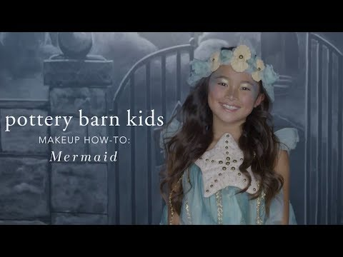 Easy Halloween Makeup Tutorial - Mermaid Costume for Pottery Barn Kids