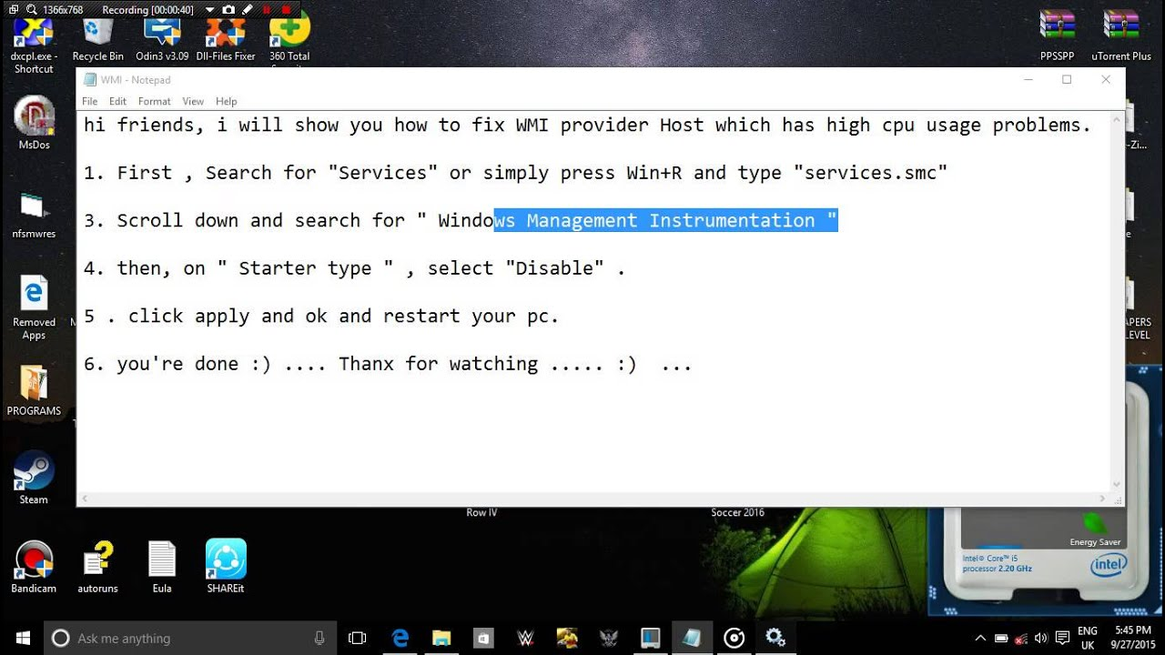 Fix Wmi Provider Host High Cpu Usage For Win 7 8 8 1 10 Youtube