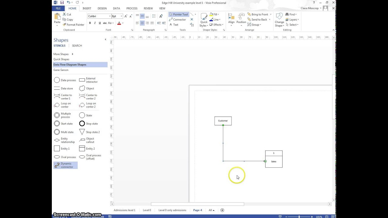 Basic visio how to creating dfds youtube pooptronica