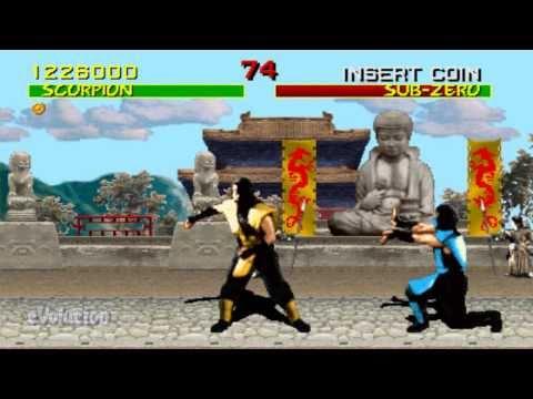 Mortal Kombat (Arcade) Scorpion Run-through (60FPS)
