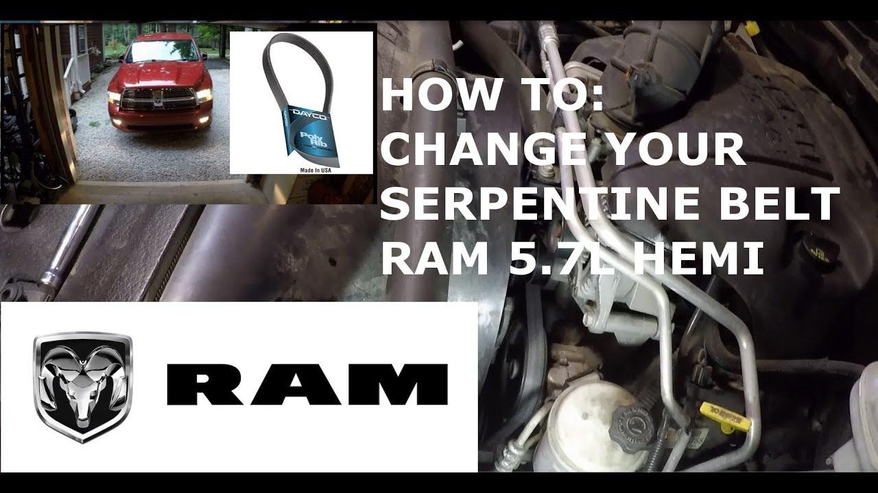 medium resolution of how to change your serpentine belt 5 7l hemi