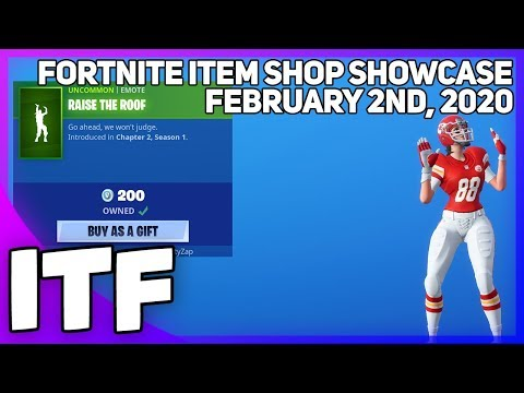 Fortnite Item Shop *NEW* RAISE THE ROOF EMOTE! [February 2nd, 2020] (Fortnite Battle Royale)