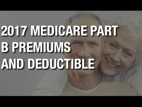 What is the 2017 Medicare Part B premium & annual deductible costs