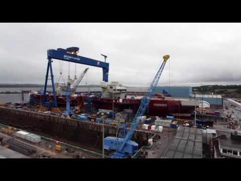 HMS Queen Elizabeth  timelapse