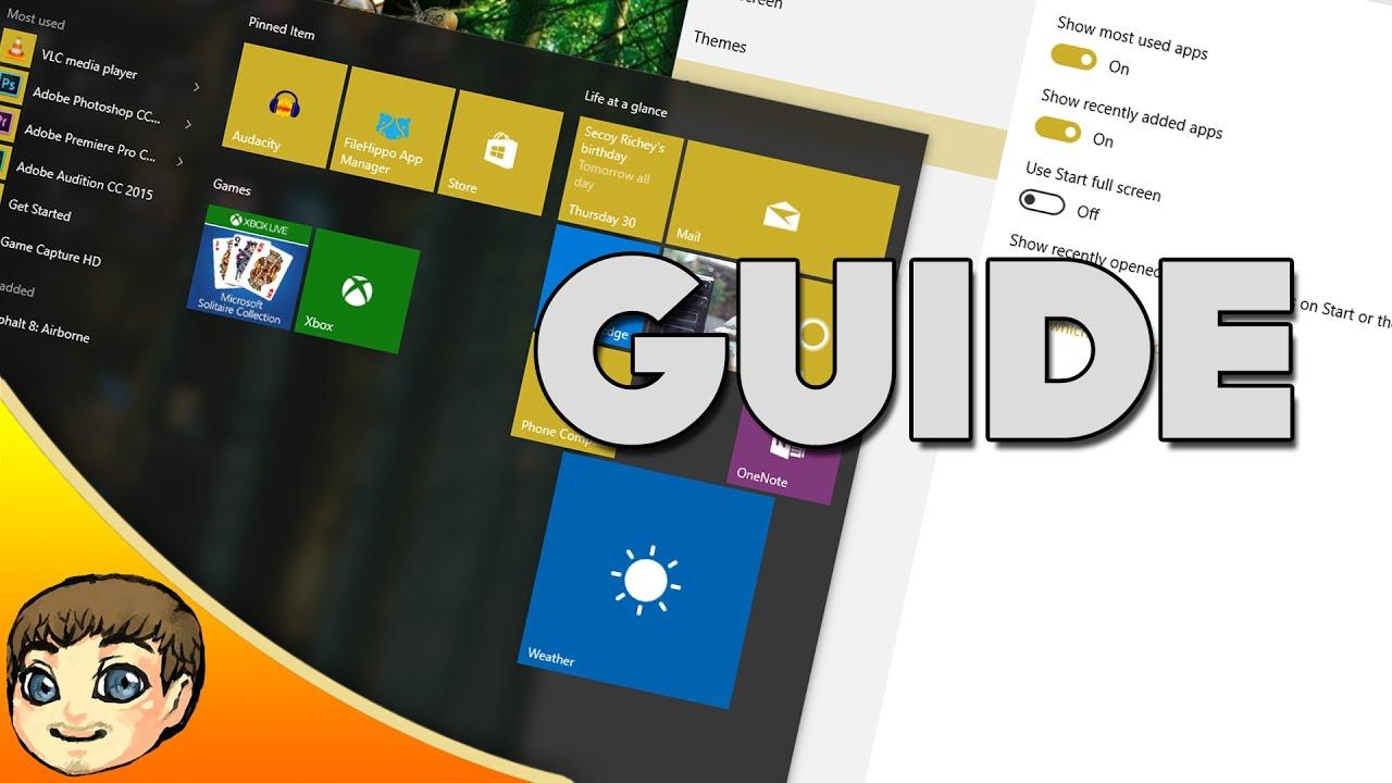Windows 10 Start Menu Guide (Customization, Resizing, Uninstalling) |  Windows 10 Tips