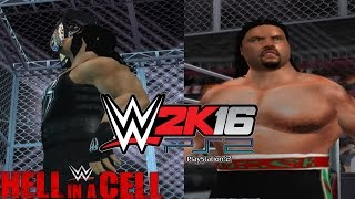WWE 2K16 PS2: Roman Reigns vs Rusev - Hell in a Cell 2016 - WWE United States Championship
