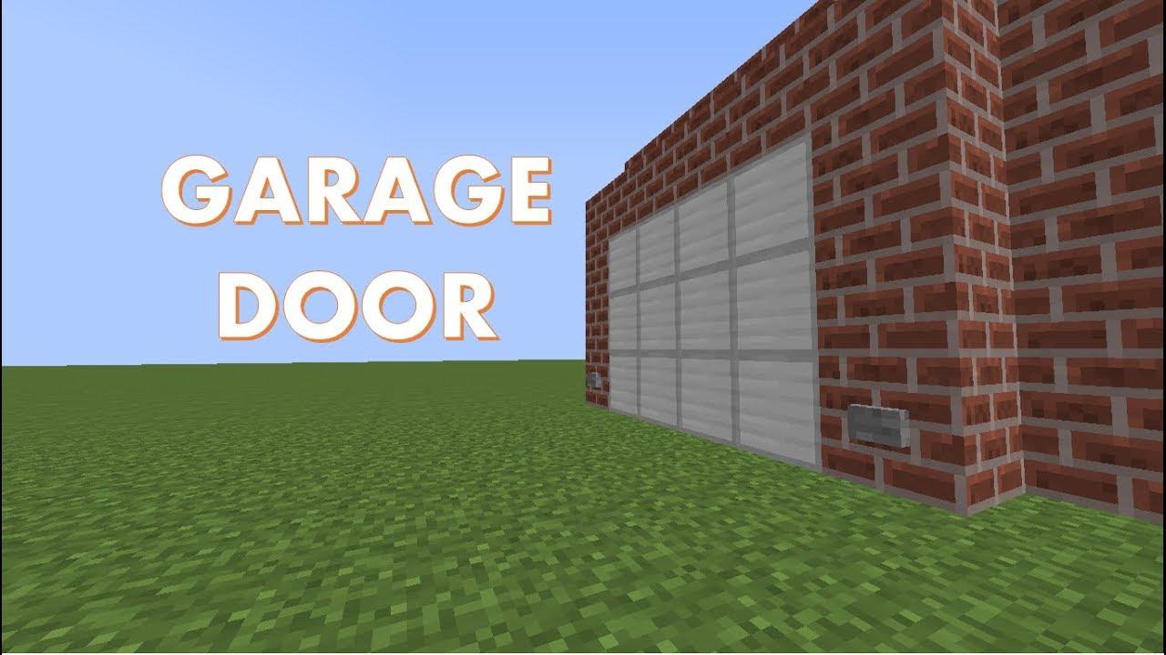 How To Make A Working Garage Door Minecraft Tutorial You
