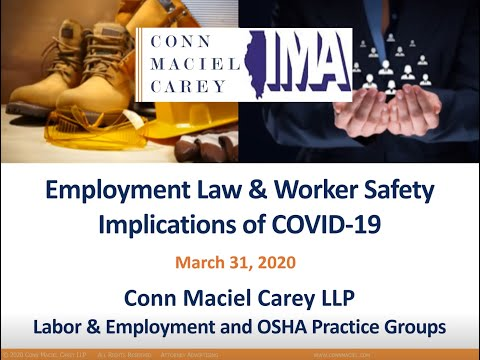 IMA Webinar: How Employers Can Respond to COVID-19 and Frequently Asked Questions
