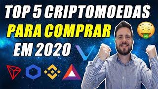 TOP 5 Criptomoedas Mais Promissoras 2020! – Podem Valorizar 800% Mais Que o Bitcoin!