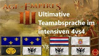 Phantastisches 4vs4 mit super Team   Age of Empires III [German/HD/Gameplay]