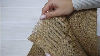 Мешковина купить Мешковина джутовая для рукоделия Мешковина Упаковочная ткань для декора 100IDEY