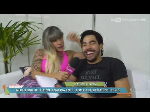 CAROL PAIXÃO COM GABRIEL DINIZ E WESLEY SAFADÃO NO GAROTA VIP RIO | Vídeo Show 21/08/17