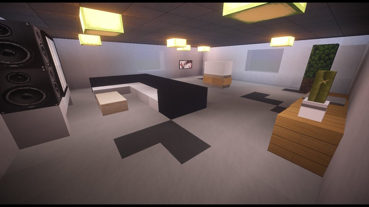 tutoriel salon moderne sur minecraft youtube. Black Bedroom Furniture Sets. Home Design Ideas
