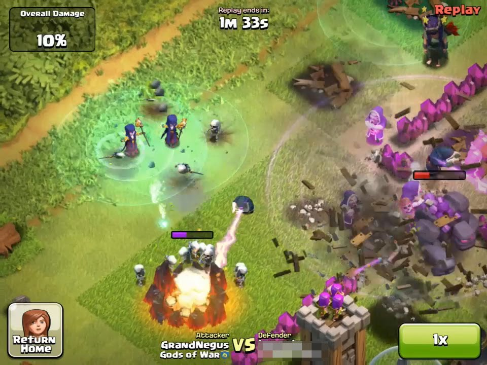 Clash of Clans Witch - 3 star attack - YouTube