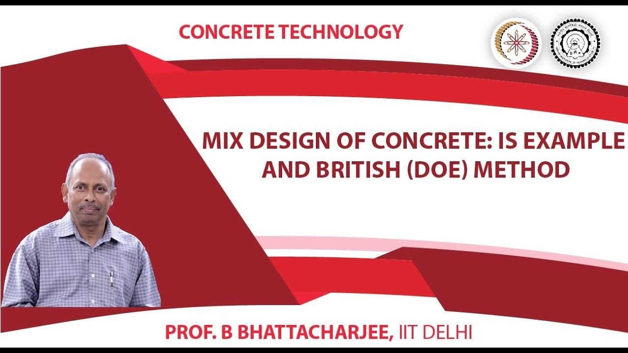 Concrete Mix Design Example : Mix design of concrete is example and british doe method