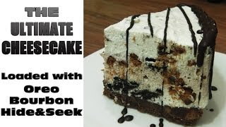 Ultimate Cheesecake Recipe   Oreo,chocolate-bourbon,chocochips+hide&seek   No Bake