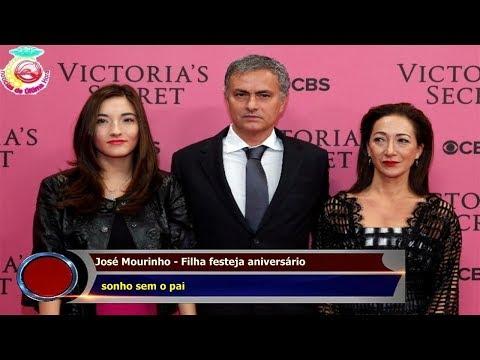 José Mourinho - Filha festeja aniversário   sonho sem o pai