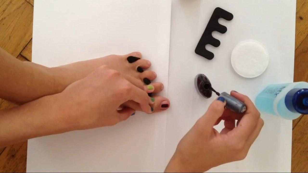 Fußnägel lackieren - Anleitung für lackierte Nägel - YouTube